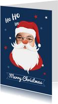 Weihnachtskarte lustiger Weihnachtsmann eigenes Foto