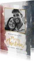 Weihnachtskarte Merry Christmas Foto auf Wasserfarbe