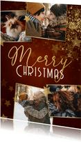 Weihnachtskarte 'Merry Christmas' Fotocollage