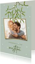 Weihnachtskarte 'Mistletoe' mit Foto