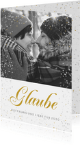 Weihnachtskarte mit Foto Glaube, Hoffnung & Liebe