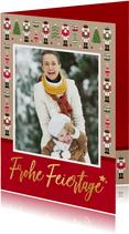 Weihnachtskarte mit großem Foto und Nussknacker Rahmen