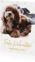 Weihnachtskarte mit Hund