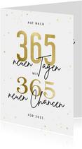 Weihnachtskarte mit Sternen 365 neue Chancen für 2021
