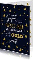 Weihnachtskarte Mitarbeiter 'Super gemacht'