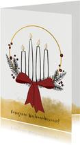 Weihnachtskarte moderner Adventskranz