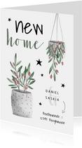 Weihnachtskarte New Home Pflanzen