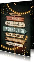 Weihnachtskarte Schilder / Einladung Weihnachtsfeier