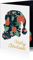 Weihnachtskarte Silhouette Weihnachtsmann