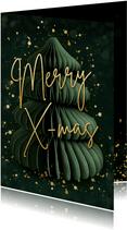 Weihnachtskarte Tannenbaum Merry X-mas