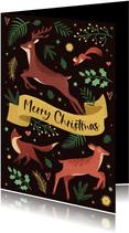 Weihnachtskarte Waldtiere