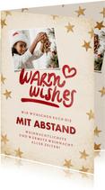Weihnachtskarte 'Warm wishes' eigenes Foto