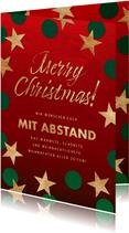 Weihnachtskarte Weihnachten mit Abstand