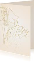 Weihnachtskarte Weihnachtsengel 'Joy to the world'