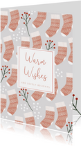 Weihnachtskarte Weihnachtssocken