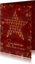 Weihnachtskarte 'Zusammen stark' Stern