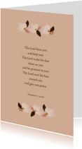 Wenskaart bloemen bijbeltekst