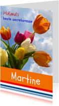 Felicitatie Wenskaart Zeg het met tulpen