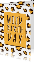 Wild Birthday panterprint