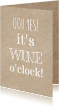 wine o'clock uitnodiging