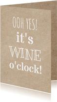 wine o'clock uitnodiging