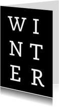 Kerstkaarten - Winter grafische kerstkaart