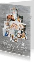 Winterliche Weihnachtskarte eigene Fotos als Weihnachtsbaum