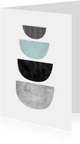 Woonkaart abstract geometrisch marmeren vorm figuur