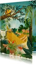 Woonkaart botanische illustratie