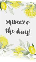 Woonkaart citroen, aanpasbare tekst