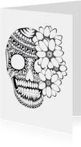 Doodskop zwart/wit illustratie