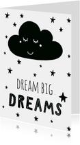 Woonkaart 'Dream big dreams'