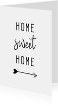 Woonkaart 'Home sweet home' met pijl