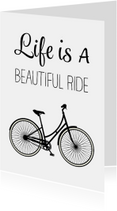 Woonkaart - Life is a beautiful ride - omafiets