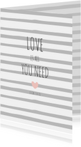 Woonkaart love is all you need