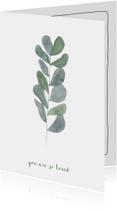 Woonkaart met een  Botanisch blad