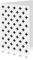 Woonkaart met zwart witte kruisjes