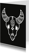 Woonkaart Skull zwart