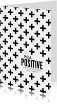 Woonkaart Think positive