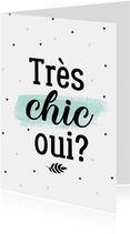 Woonkaart très chic