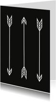 Woonkaarten Pijlen zwart wit