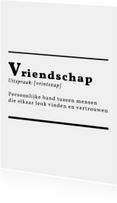 Woordenboek Vriendschap - DH