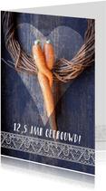 Wortel knuffel jubileumkaart