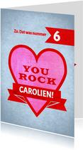 You Rock - stoere kaart voor iemand met kanker