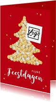 Zakelijke financiële kerstkaart geld kerstboom sterren