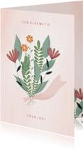 Zakelijke kaart een bloemetje voor jou