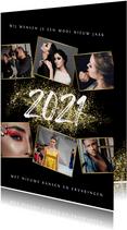 Zakelijke kerst- en nieuwjaarskaart 2021 goud spetters foto