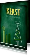 Zakelijke kerst grafiek pieken 2021