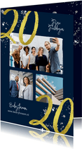 Zakelijke kerstkaart 2020 goud glitter foto's