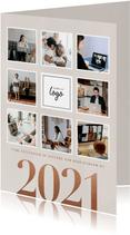 Zakelijke kerstkaart 2021 fotocollage en logo